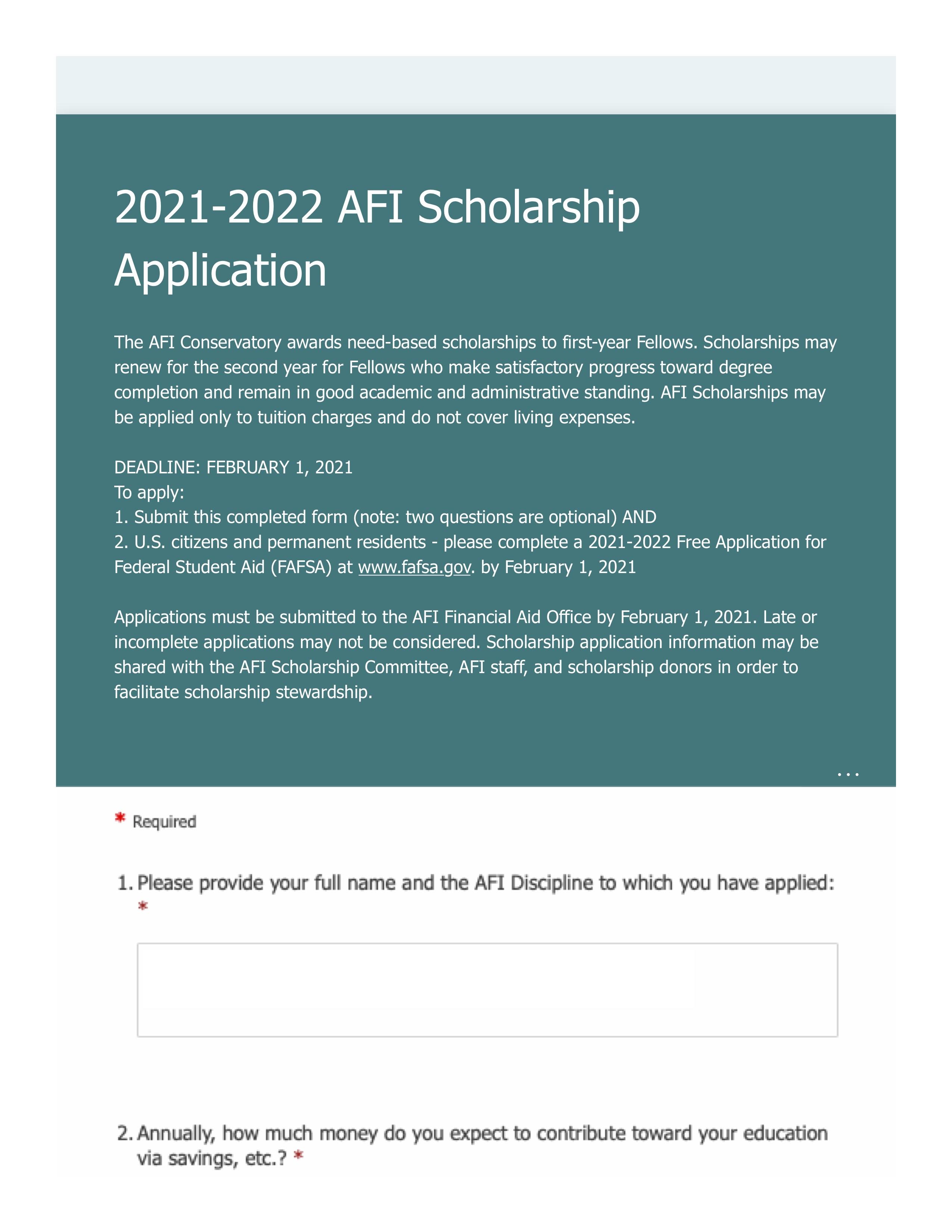 2021-2022 AFI Scholarship Application p1.jpg